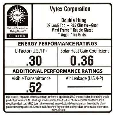 Vytex commercial windows replacement window resources Energy rating for windows